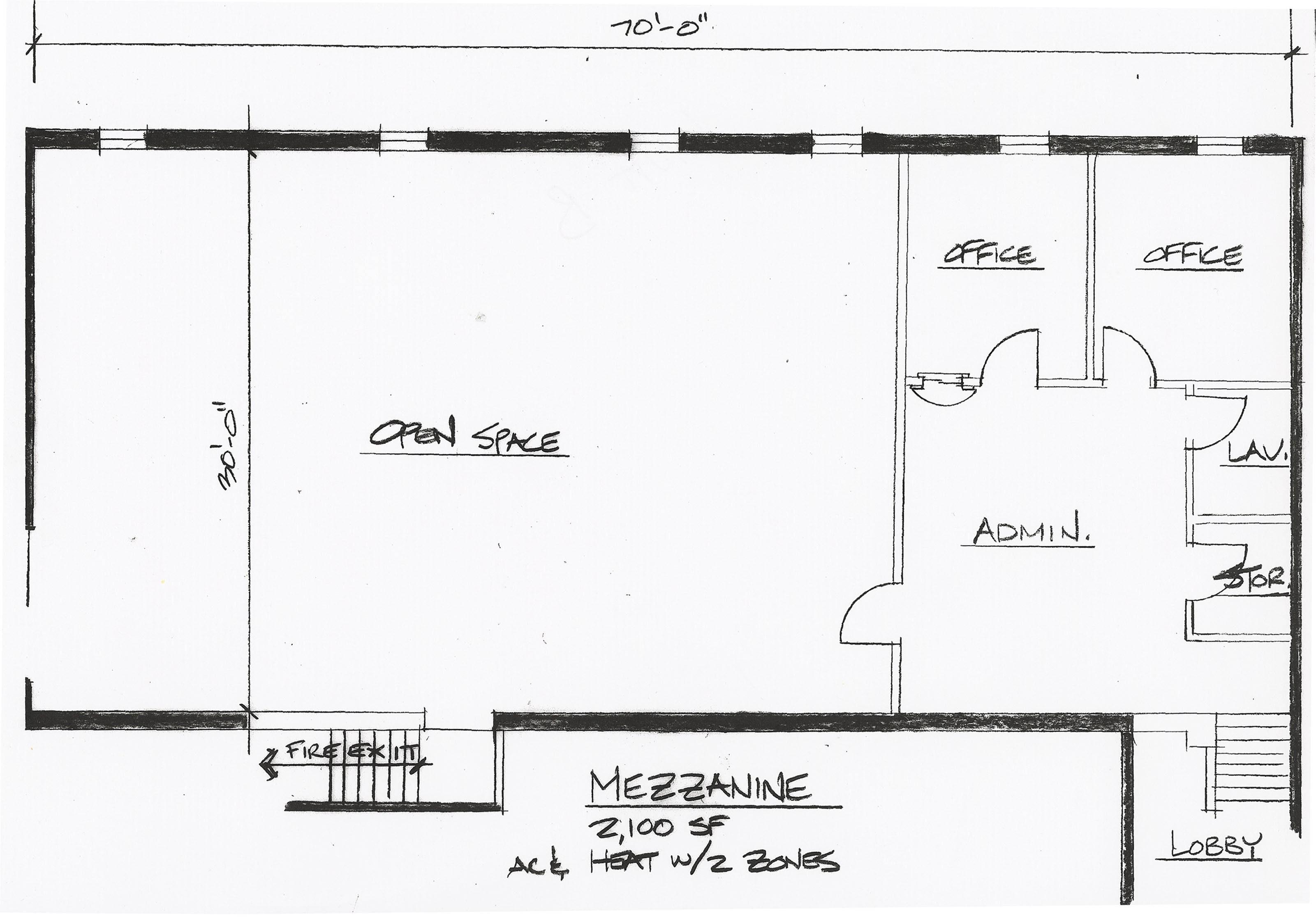 Mezzanine www for Mezzanine floor plan